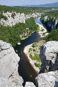 Compagnie canoë chassezac vue des gorges
