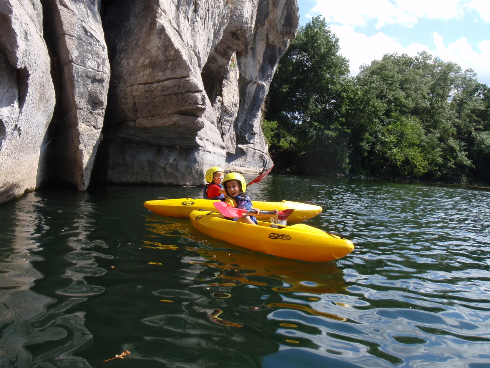 CCC-Stage enfant kayak Chassezac Ardèche