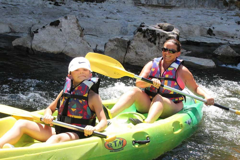 Compagnie Canoe Chassezac Ardeche Cevennes Les Vans canoe kayak en famille avec enfants parcours mazet 7 km