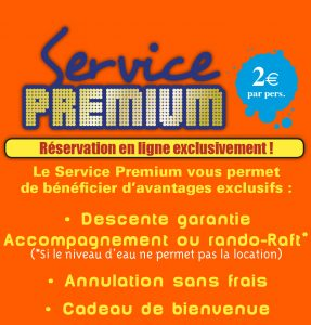 Service Premium Canoe Chassezac
